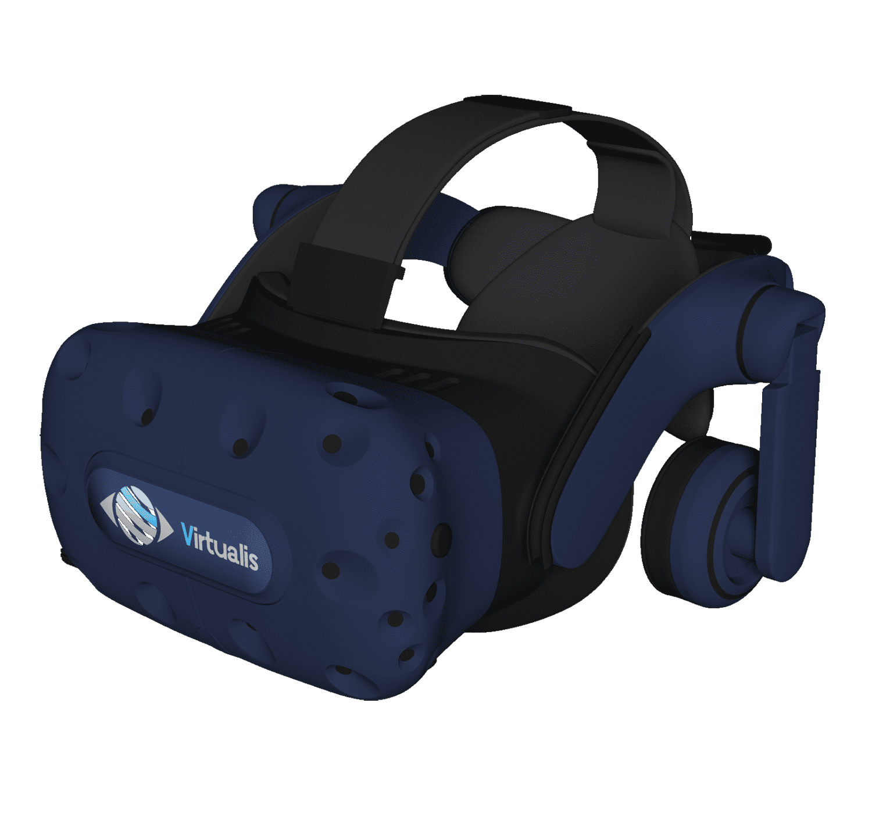 Headset virtualis vr