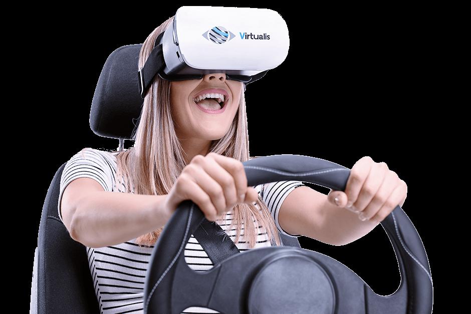 conduire virtualis vr casque