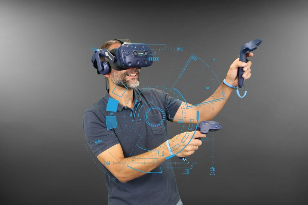 innovation homme casque vr virtualis vr