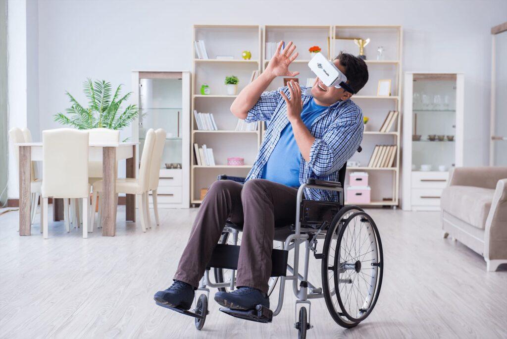 wheelchair vr man virtualis