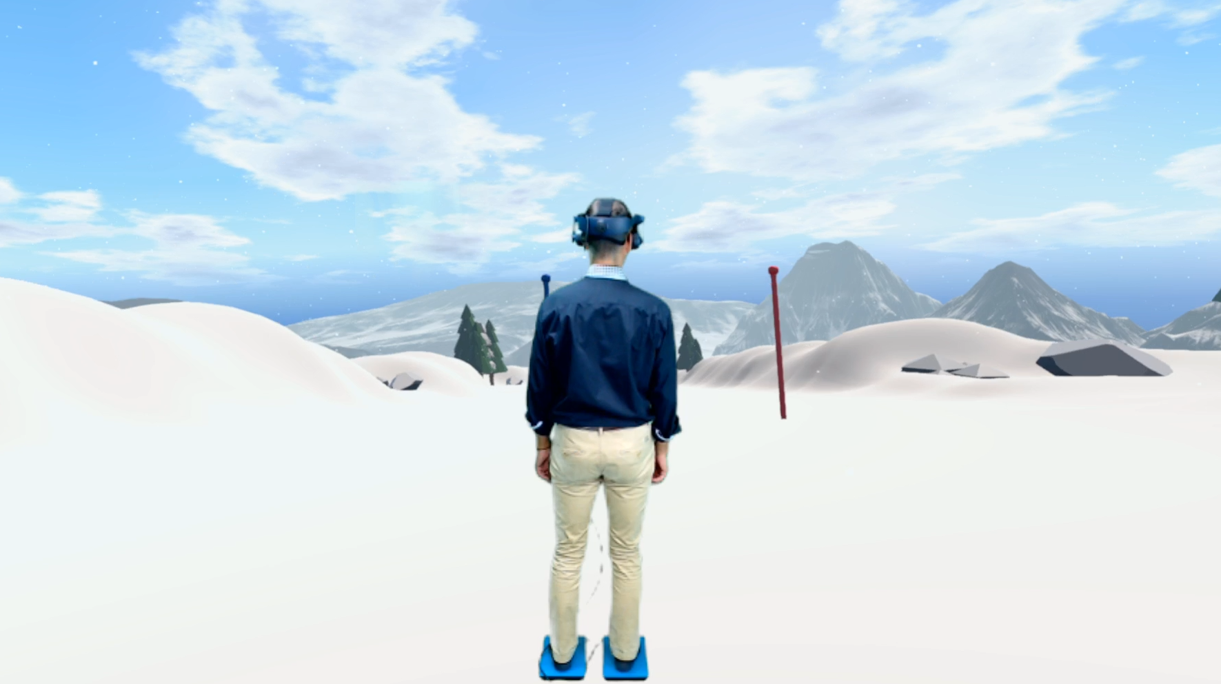 Rééducation Posturographie statique - Ski - Virtualis VR